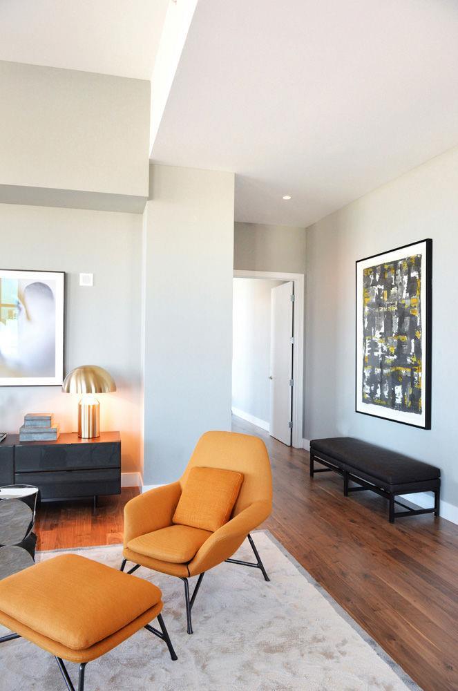 Los angeles carlyle residence - Salones en tonos grises ...