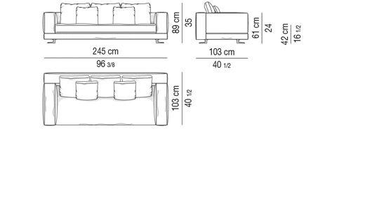 Depth Cm 103 Sofa 245