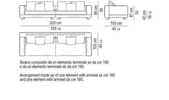 Depth Cm 103 Sofa 320