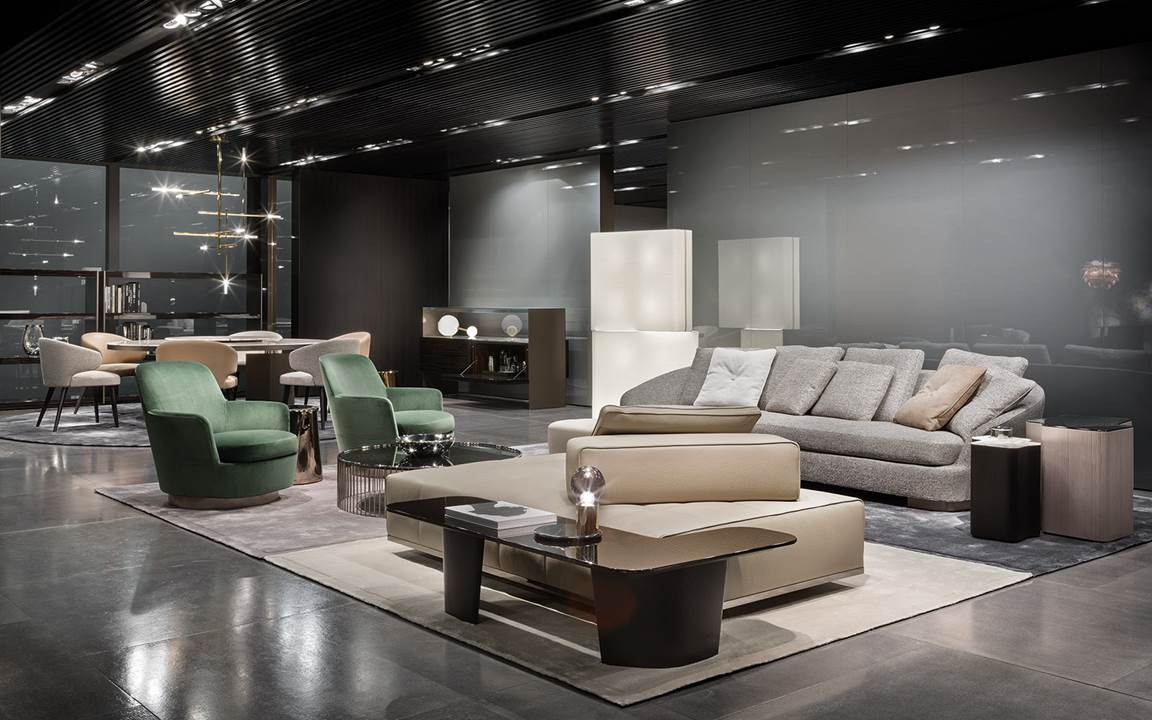 minotti imm cologne 2018. Black Bedroom Furniture Sets. Home Design Ideas