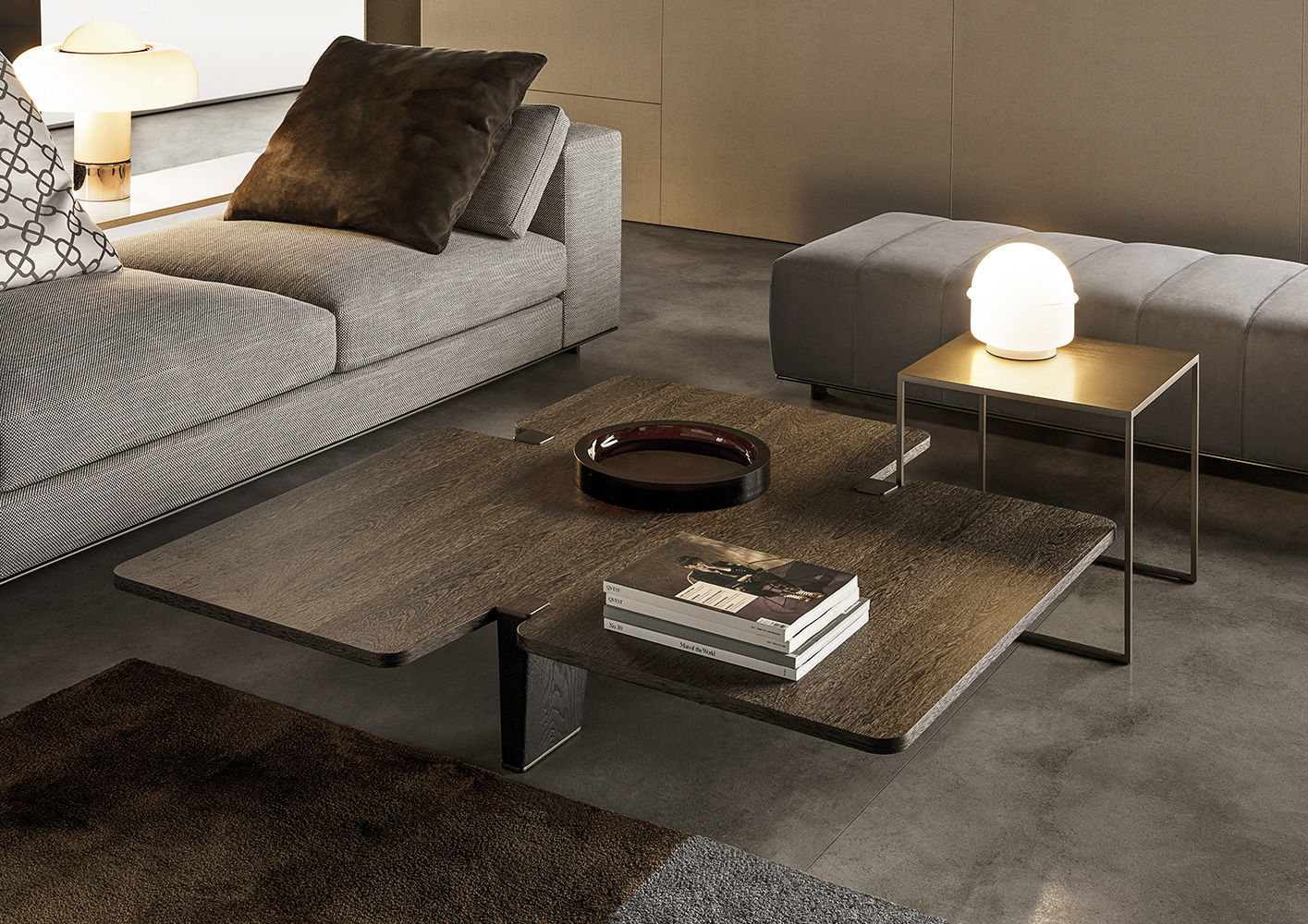 Jacob coffee tables en for Minotti coffee table