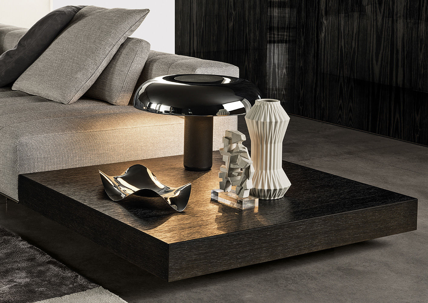 Ritter coffee tables en for Minotti coffee table