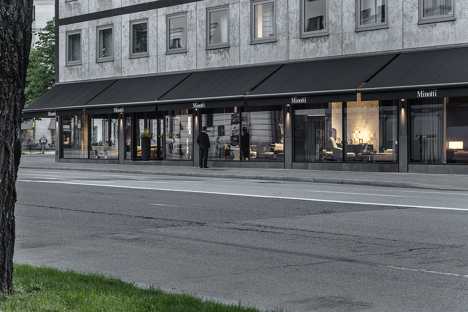 minotti showroom berlin euromobil in vienna lookbox living living innovations opens first. Black Bedroom Furniture Sets. Home Design Ideas